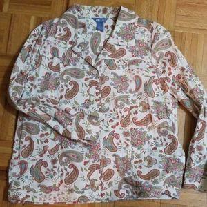 Koret paisley jacket with denim styling.